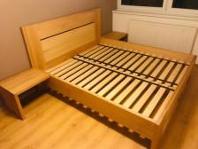 Buková postel dle přání zákazníka